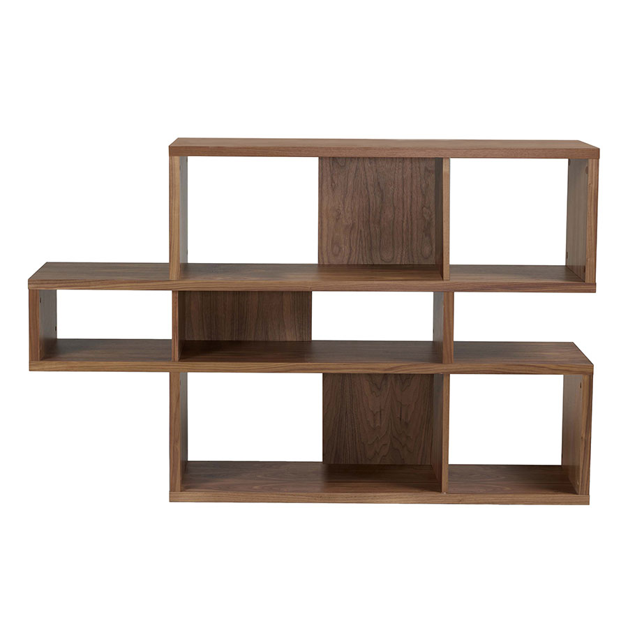 London Walnut Contemporary Bookcase