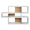 London White + Oak Contemporary Bookcase