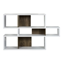 London White + Walnut Contemporary Bookcase by TemaHome
