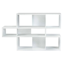 London White Contemporary Bookcase by TemaHome