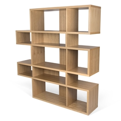 London Oak Modern Double Height Bookcase