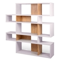 London White + Cork Modern Double Height Bookcase