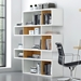 London White + Oak Modern Double Height Bookcase