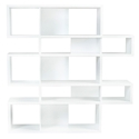 London White Modern Double Height Bookcase by TemaHome
