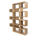 London Oak Modern Triple Height Bookcase
