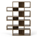 London Walnut Modern Triple Height Bookcase by TemaHome