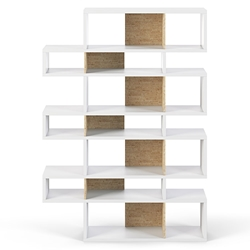 London White + Cork Triple Height Modern Bookcase