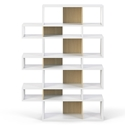 London White + Oak Triple Height Modern Bookcase by TemaHome