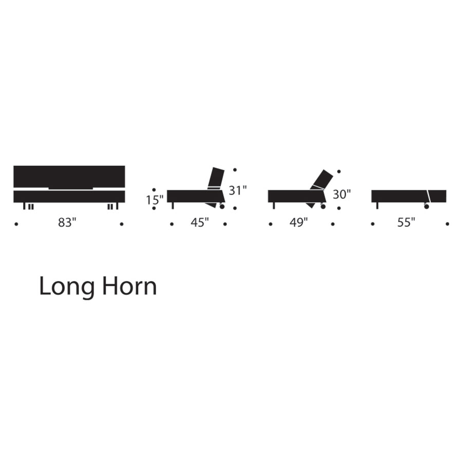 Innovation Long Horn Dark Grey Sleeper Sofa Eurway Modern