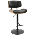 Lowery Modern Black Adjustable Height Stool