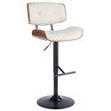 Lowery Modern Cream Adjustable Height Stool
