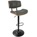 Lowery Modern Gray Adjustable Height Stool
