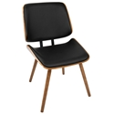 Lowery Modern Dining Chair in Black