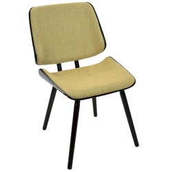 Lowery Modern Dining Chair in Yellow