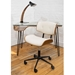 Lowery Cream + Walnut Modern Office Chair
