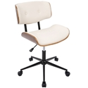 Lowery Cream Mid-Century Modern Task Chair