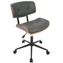 Lowery Gray Mid-Century Modern Task Chair