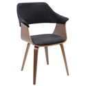 Lucerne Modern Walnut + Black Dining Chair