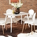 Lugano White Contemporary Dining Table