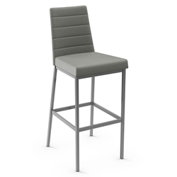Luna Modern Bar Stool by Amisco in Magnetite Metal Finish