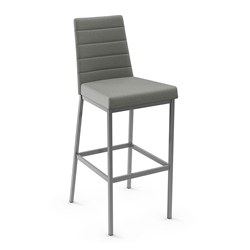 Luna Modern Counter Stool by Amisco in Magnetite Metal Finish