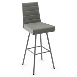 Luna Modern Swivel Bar Stool by Amisco in Magnetite Metal Finish