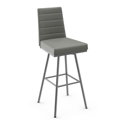 Luna Modern Swivel Counter Stool by Amisco in Magnetite Metal Finish