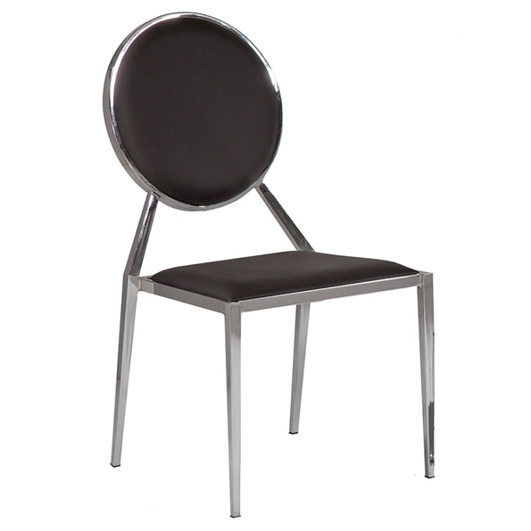 Luton Black Modern Dining Chair