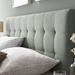 Lyon Contemporary Gray Fabric Headboard - Detail View