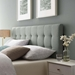Lyon Contemporary Gray Fabric Headboard