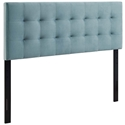 Lyon Modern Light Blue Velvet Headboard