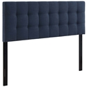 Lyon Modern Navy Fabric Headboard