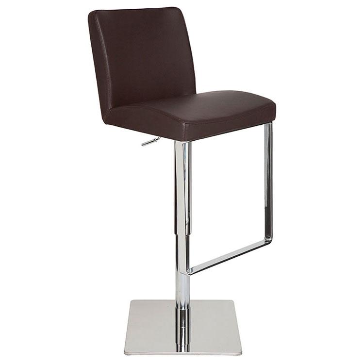 Maastrict Modern Brown Adjustable Leather Stool