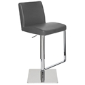Maastrict Modern Grey Adjustable Leather Stool