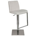 Maastrict Modern White Adjustable Leather Stool