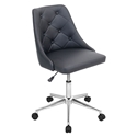 Mackenzie Black Modern Office Chair