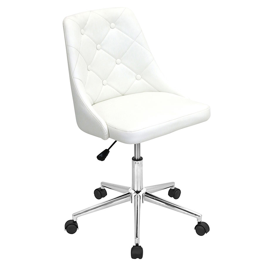Mackenzie White Modern Office Chair