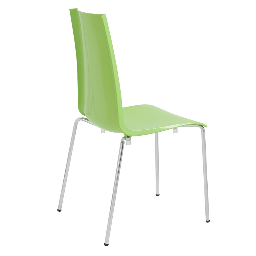... Maddox Green + Chrome Contemporary Dining Chair