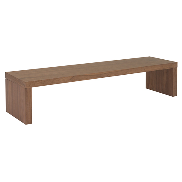 Madison Walnut Modern Media Bench