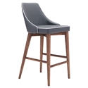 Madock Gray Modern Counter Stool