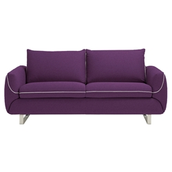 Maestro Modern Sleeper Sofa in Eggplant by Pezzan
