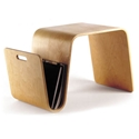 Mag Modern Birch Table + Magazine Rack by Offi & Company