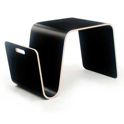 Mag Modern Black Table + Magazine Rack by Offi & Company