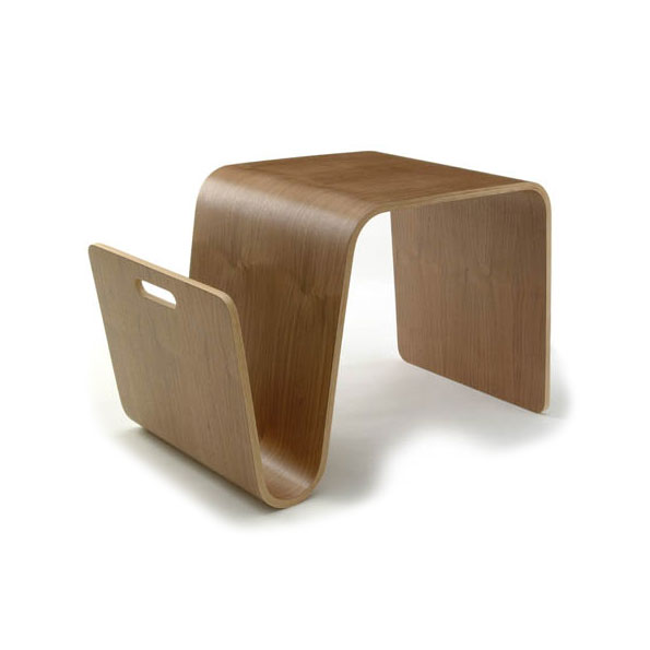 Mag Modern Walnut Table + Magazine Rack by Offi & Company