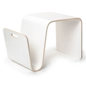 Mag Modern White Table + Magazine Rack by Offi & Company