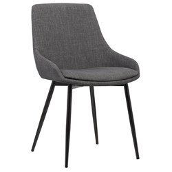 Maggie Modern Charcoal Fabric Dining Chair