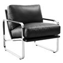 Magi Black Modern Lounge Chair