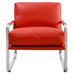Magi Red Contemporary Lounge Chair