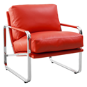 Magi Red Modern Lounge Chair