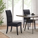 Magic Contemporary Black Bonded Leather Dining Chairs